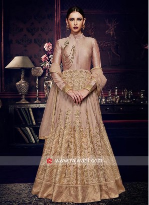 Embroidered Silk Semi Stitched Salwar Kameez