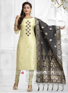 Embroidered Straight Cut Salwar Kameez