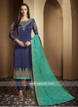Embroidered Straight Fit Salwar Suit
