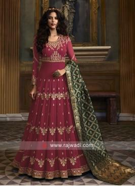 Embroidered Wedding Anarkali Suit