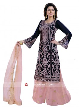 Embroidered Wedding Palazzo Suit