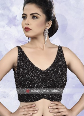 Embroidery Black Ready Choli