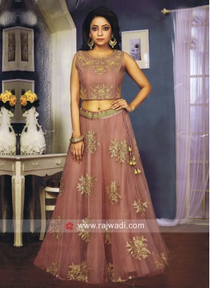 Embroidery Patch Work Lehenga Set