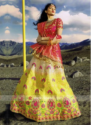 Embroidery Silk Shaded Lehenga Choli