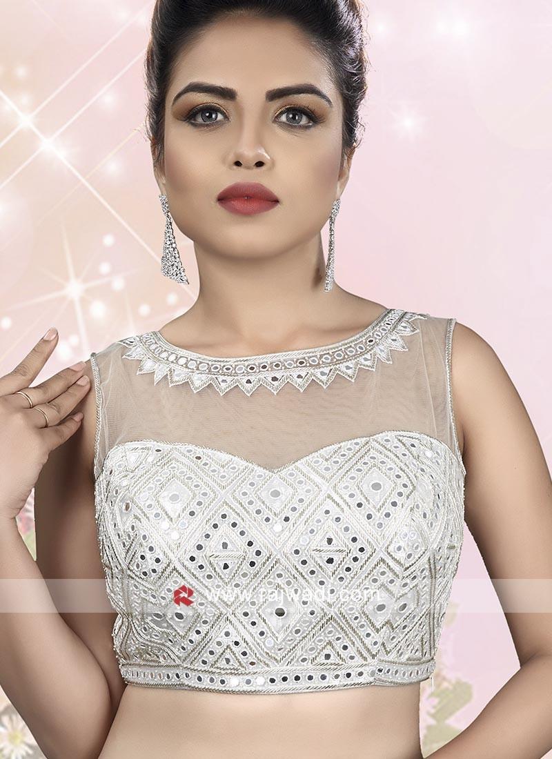 Embroidery White Ready Choli