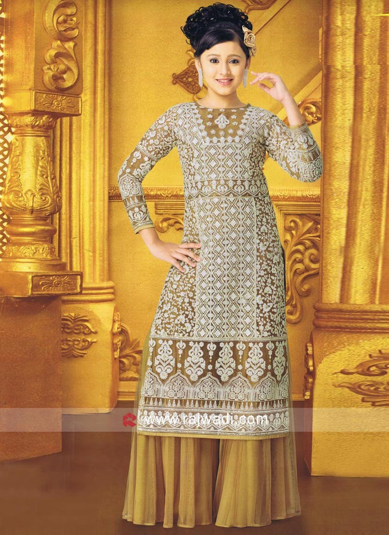 Embroidery Work Palazzo Suit