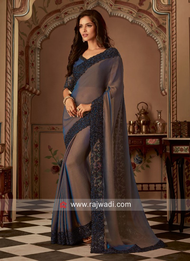 Embroidery Work Party Wear Saree