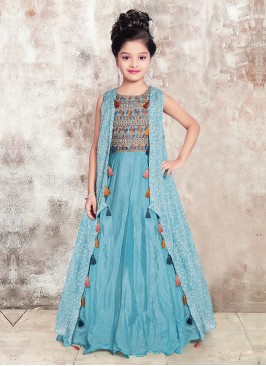 Embroidery Work Silk Gown