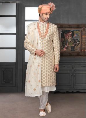 Embroidery Work Wedding Sherwani