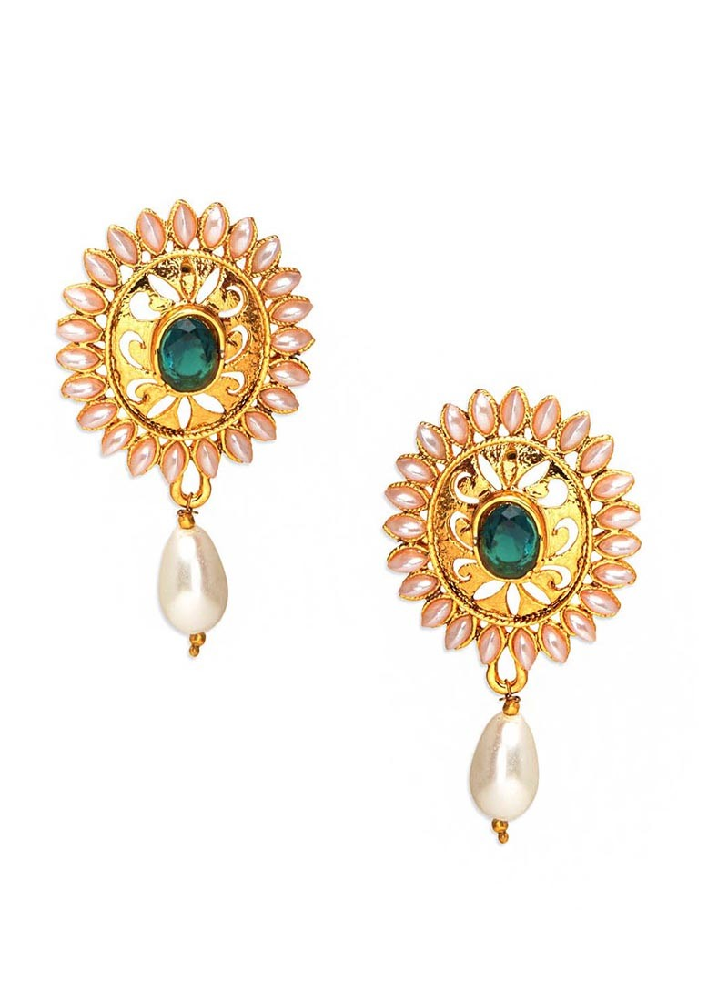 Emerald Sunshine Drop Earrings
