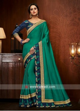 Energetic Art Silk Patch Border Designer Traditional Saree