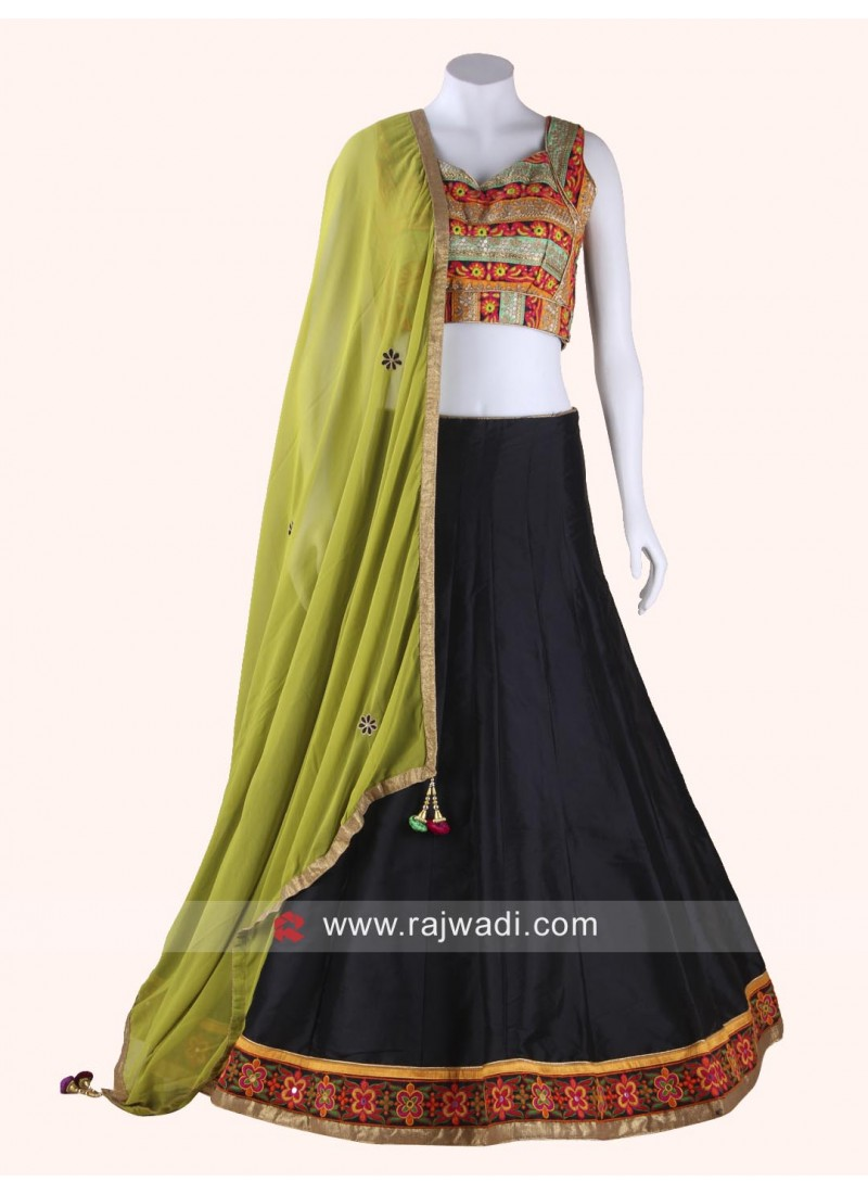 Enhancing Kutchi Work Designed Chaniya Choli