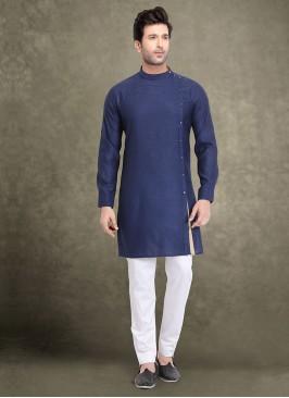 Enthic Blue Color Kurta Pajama