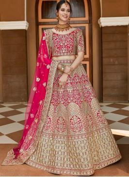 Epitome Pink Bridal Lehenga Choli