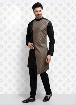 Ethnic Black Color Kurta Pajama