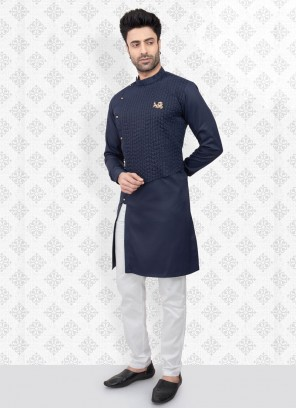 Ethnic Blue Color Kurta Pajama