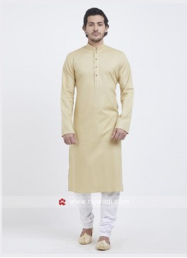 Ethnic Cream Color Kurta Set