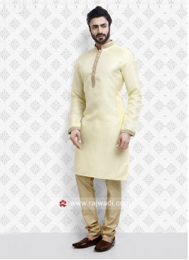 Ethnic Cream Kurta Pajama