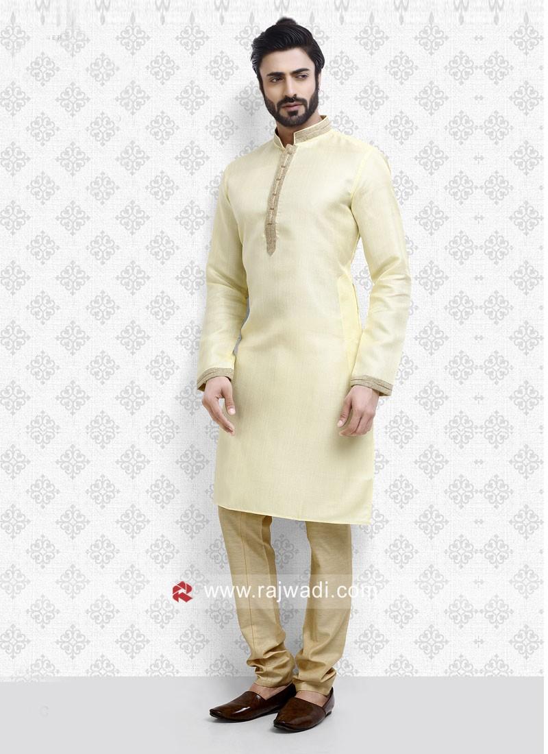 Ethnic Cream Kurta Pajama