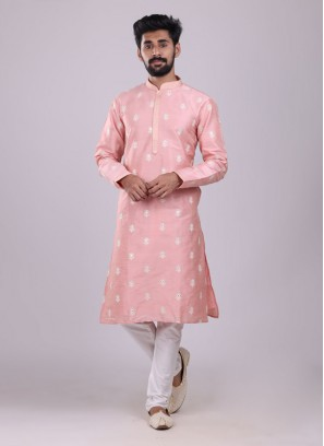 Ethnic Kurta Pajama In Pink Color