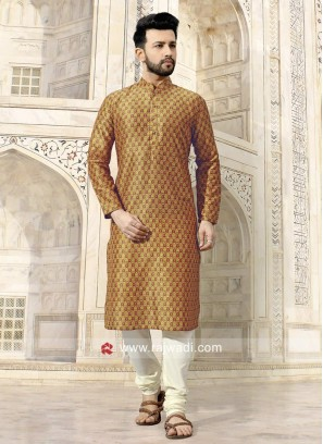 Ethnic Mustard Yellow Kurta Set