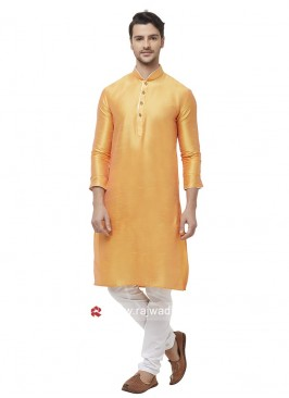 Ethnic Orange Color Kurta Set