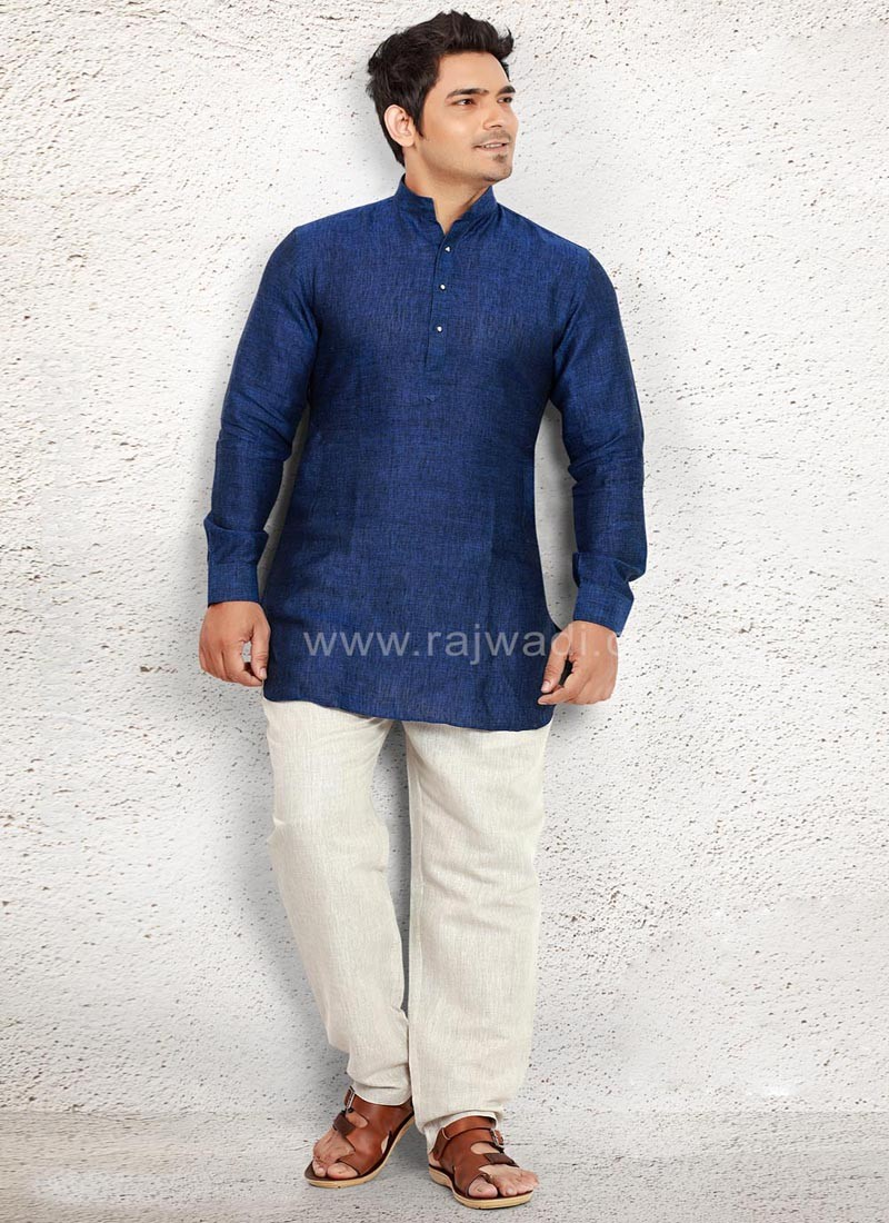 Ethnic Party wear Blue Pathani Suit