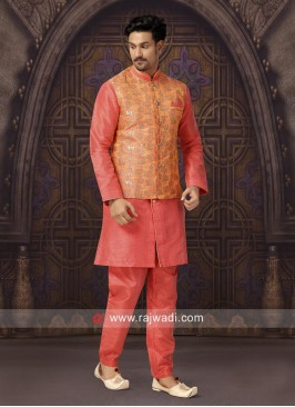 Stylish Pink Color Nehru Jacket
