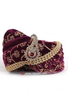 Ethnic Purple Color Safa