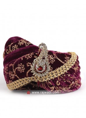 Ethnic Purple Color Safa