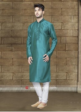 Charming Rama Green Kurta Set