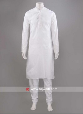 Ethnic White Resham Work Kurta Set
