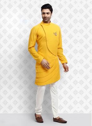 Ethnic Yellow  Kurta Pajama