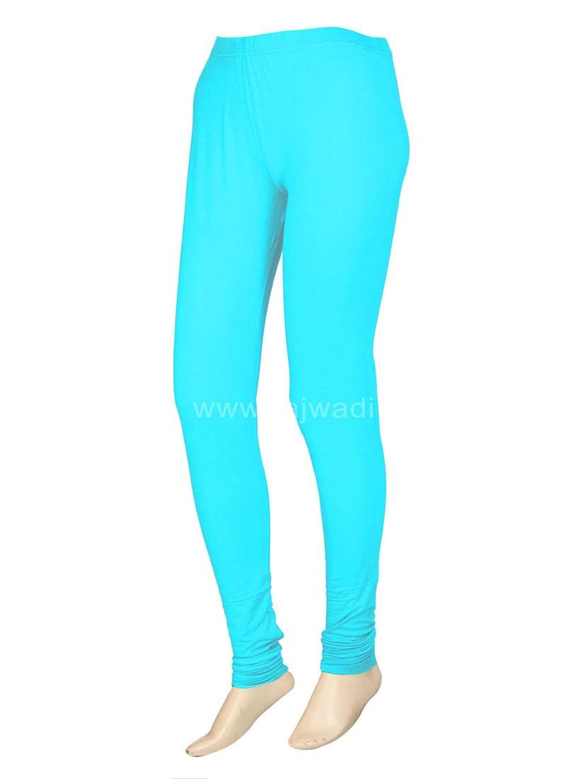 Excellent Sky Blue Coloured Leggings