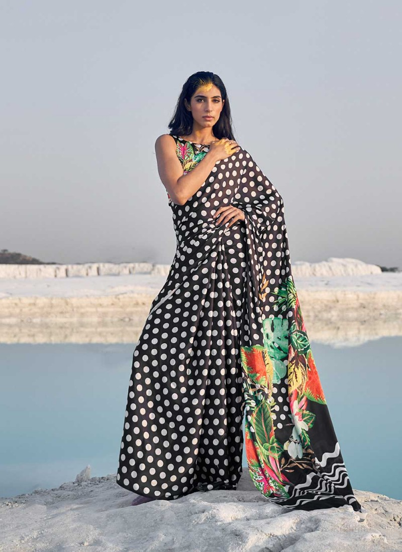 Exciting Faux Crepe Festival Casual Saree