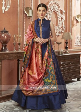 Exclusive Art Silk Floor Length Anarkali Suits
