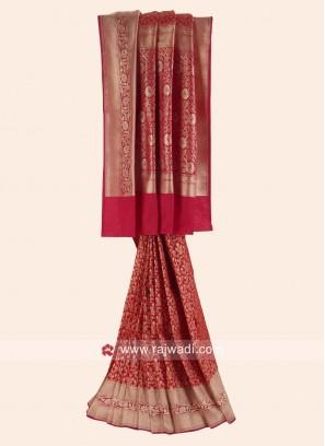 Exclusive Banarasi Silk Reception Saree