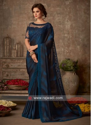 Exclusive Chiffon Silk Party Saree