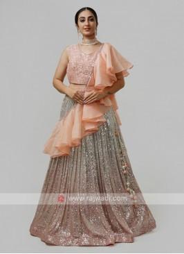 Exclusive Choli Suit In Peach
