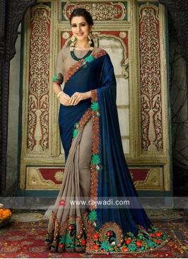 Exclusive Embroidered Half n Half Saree