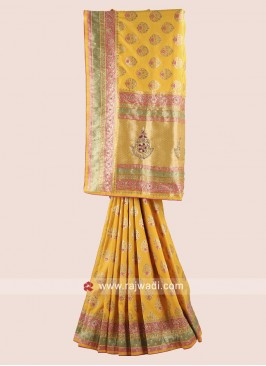 Exclusive Embroidered Saree with Blouse