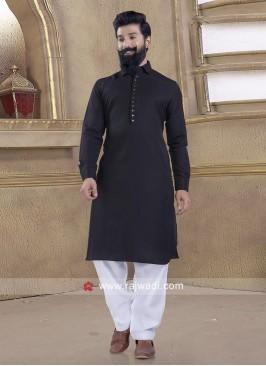 Exclusive Black Pathani Suit