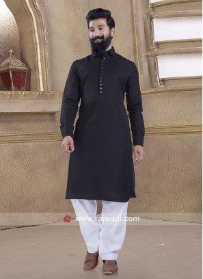 Exclusive Black Pathani Suit