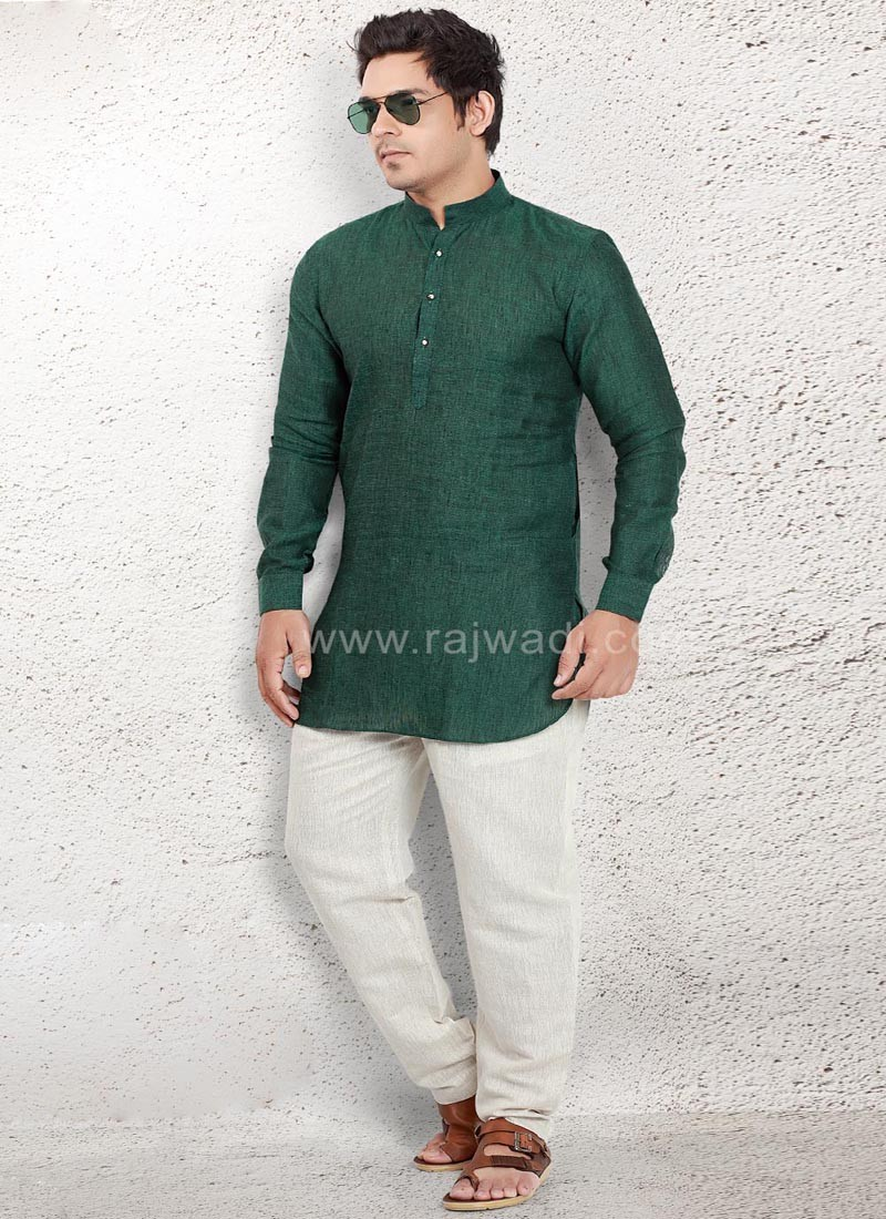 Exclusive Green Pathani Suit