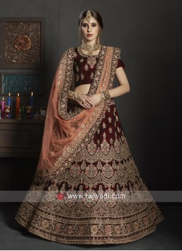 Exclusive Heavy Embroidered Bride Lehenga Choli