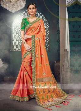 Exclusive Heavy Embroidered Saree