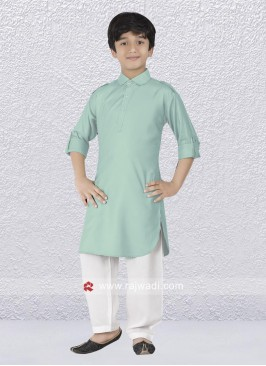 Exclusive Light Pista Pathani Suit