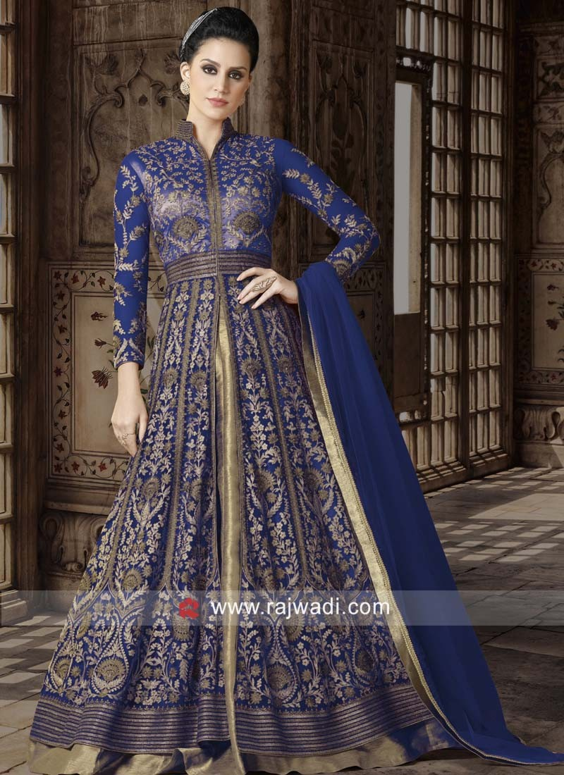 Exclusive Net Heavy Emroidery Semi Stitched Suits