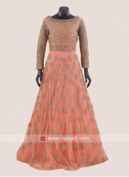 Exclusive Net Heavy Gown for Wedding