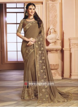 Exclusive Pearl and Stone Work Saree